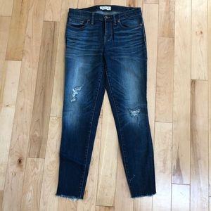 Madewell Skinny Skinny Jeans Sz 28 Belmont Wash